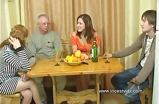 FamilySex Usual family dinner turns into a party xxx tube video