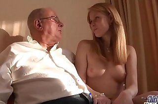 Old Young Porn Grandpa likes to fuck young girls and lick pussies xxx tube video