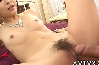 Fucking an appealing asian sweetheart xxx tube video