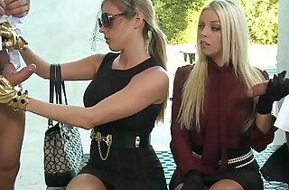 Nasty cfnm femdom Britney Amber up close xxx tube video