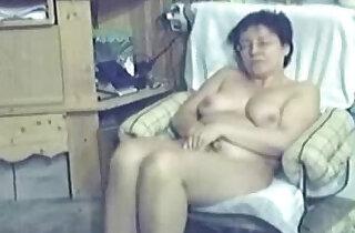 My mum home alone caught masturbating by my hidden cam xxx tube video