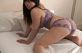 Femorg Big Boobed Curvy Asian in Lingerie Masturbates Shaved Twat xxx tube video