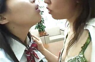 Asian Schoolgirls Kissing Licking Sucking Nipples Teasing Clit Licking Hairy xxx tube video