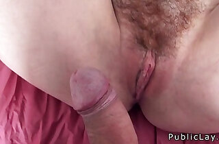 Hairy redhead picked up in public xxx tube video