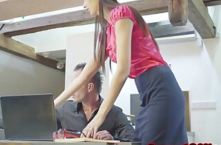 Skinny czech secretary shagging her boss xxx tube video