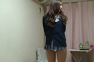 Naked Japanese Madoka wears a Miniskirt School Uniform xxx tube video