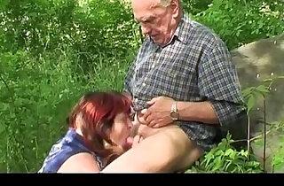 Granny and Grandpa fuck outdoor xxx tube video