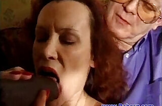 British Mature with two cocks fucking xxx tube video