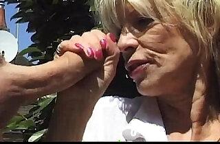 Nasty Gilf Pisses Fucks Outdoors xxx tube video