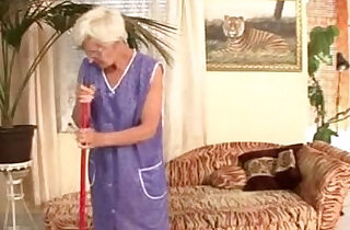 Granny cleaner fucked by young master xxx tube video