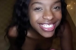 Black Teen babe Loves White Cock and Cum! xxx tube video