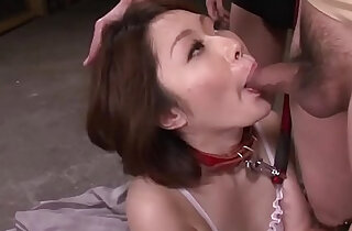 Mature asian blows three studs in a foursome on her knees xxx tube video