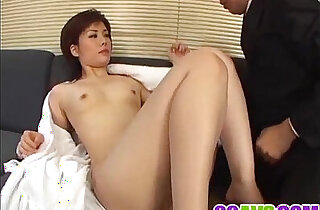 Yukino bends in doggy for a good fuck on the couch xxx tube video
