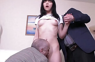 Tricky Old Teacher Sexy brunette asks a teacher for private lessons xxx tube video