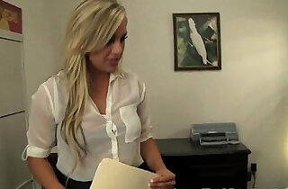 Cute blonde Teen Pussy In Job Interview! xxx tube video
