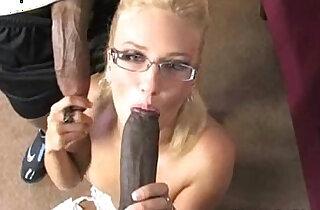 Hot Blonde in Black Cum! xxx tube video