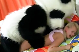 Plush panda and teen facial xxx tube video
