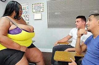 Busty Black BBW Teacher Fucks Stud Students xxx tube video