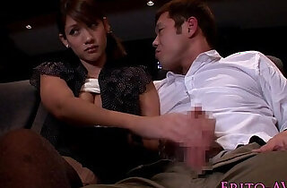 Japanese babe tugging and sucking in cinema xxx tube video