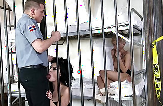 Prison whores Dolly Diore Olivia Jager enjoy hard Anal Domination xxx tube video