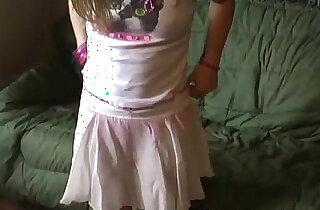 Petite teen Kitty in a cute little pink skirt xxx tube video