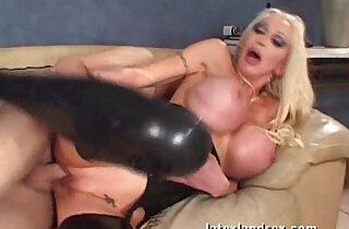 Latex Busty amateur Blonde in kinky hardcore sex xxx tube video