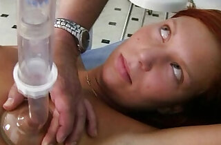 Redhead pussy examination by kinky gyno doctor xxx tube video