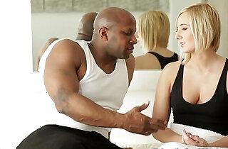 Interracial girlfriend assfucked by bfs BBC xxx tube video