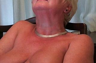 Busty and curvy grandma Sandie xxx tube video