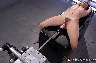 Bound hairy babe fucks machine xxx tube video