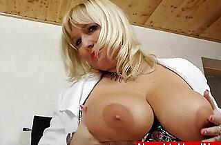 Filthy blonde big tits milf nurse uniform xxx tube video