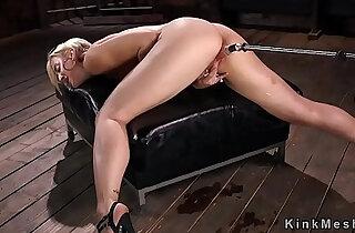 Fucking machine made blonde squirting xxx tube video