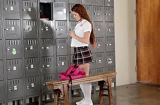 InnocentHigh Slutty Cheerleader Squirts All Over Coach xxx tube video