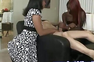 Ebony MILF shows daughter how to please a man orally xxx tube video