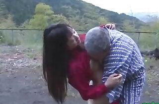 Asian webcam Girl Getting Pussy Licked And Fucked By Old Man Cum To Ass Outdoor xxx tube video