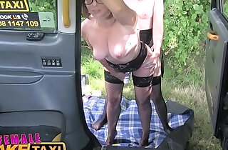 Female Fake Taxi Double dildo multiple orgasms hot strap on action xxx tube video