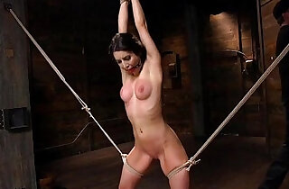 Brunette slave spanked, punished and brought to orgasm xxx tube video