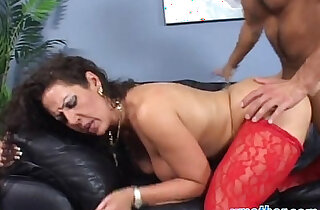 Step mom with big tits banged doggy on couch xxx tube video