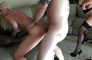 Sexy amateur cfnm babes orgy banged at party after body shots xxx tube video