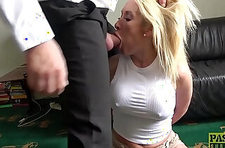 Roughly fucked MILF deepthroats her masters big fat cock xxx tube video