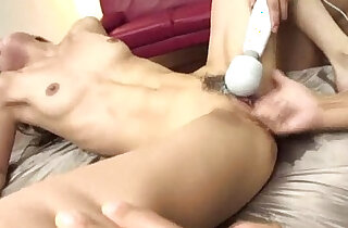 Trimmed and horny Aya has her pussy with fingers while her clit is toyed xxx tube video