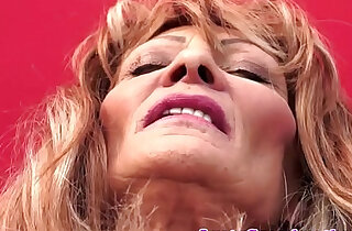 Saggy grandma doggystyled and jizzed in mouth xxx tube video