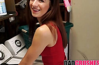 Fucking My Skinny brunette Teen step Daughter In Laundry Room xxx tube video