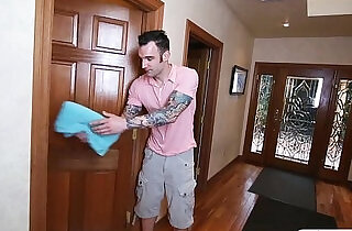 Stepson fucked his stepmom and tight gf in the bedroom xxx tube video
