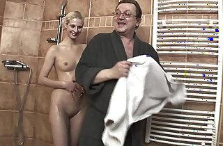 Lewd Stepdad Fucking His Skinny Blonde Stepdaughter xxx tube video