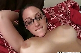 Taan In Glasses gets doggystyle Fucked Hard On Mycollegrule xxx tube video
