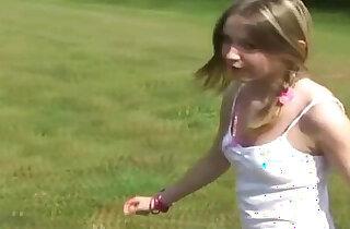 Innocent teen flashing her pink panties xxx tube video