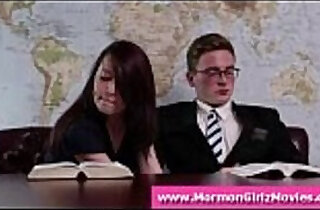 Mormon amateur giving boyfriend a handjob with underwear fetish xxx tube video