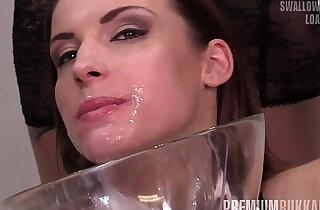 PremiumBukkake Victoria Daniels swallows huge mouthful cumshots xxx tube video