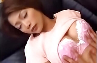 Japanese Asian fucks pussy with her own Son xxx tube video